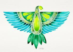 Blue and Green Parrot by Cat Coquillette