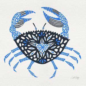 Blue-Crab-Artprint by Cat Coquillette