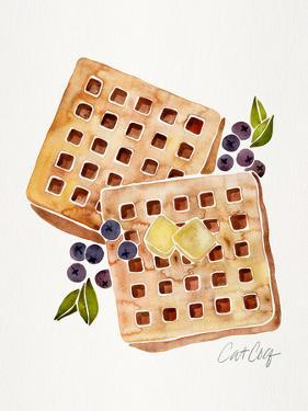 Blueberry Breakfast Waffles by Cat Coquillette