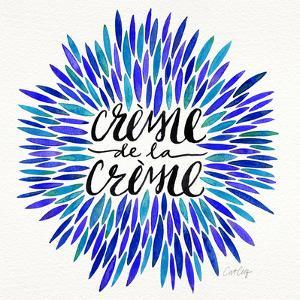 Blues-CremeDeLaCreme-artprint by Cat Coquillette