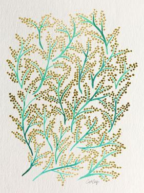 Branches in Turquoise and Gold by Cat Coquillette