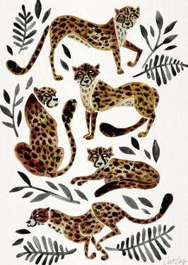 Cheetah Collection Mocha Black by Cat Coquillette