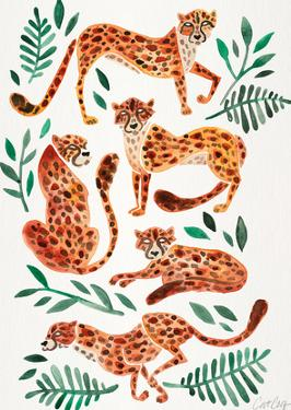 Cheetah Collection Orange by Cat Coquillette