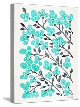 Cherry Blossoms Turquoise by Cat Coquillette