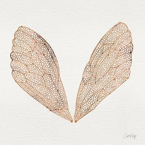 Cicada Wings in Rose Gold Ink by Cat Coquillette