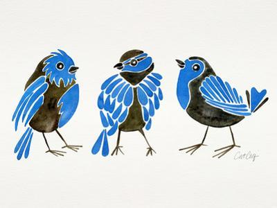 Finches Blue by Cat Coquillette