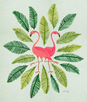 Flamingos by Cat Coquillette