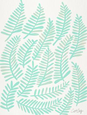 Fronds Mint by Cat Coquillette