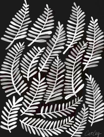 Fronds White Ink by Cat Coquillette