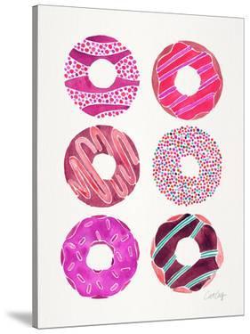 Half Dozen Donuts Magenta by Cat Coquillette