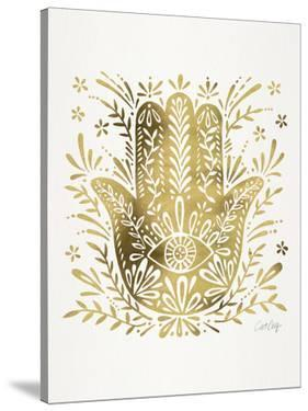 Hamsa Hand Gold by Cat Coquillette