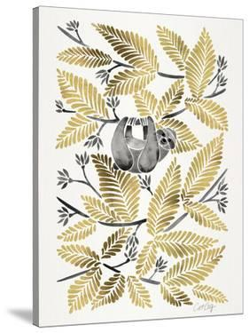 Happy Sloth Gold by Cat Coquillette