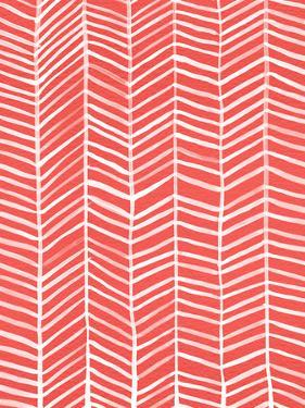Herringbone - Coral by Cat Coquillette