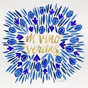 In Vino Veritas - Navy and Gold Palette by Cat Coquillette