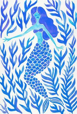Kelp Forest Mermaid Blue by Cat Coquillette