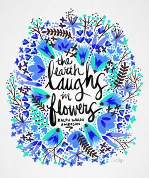 Laughs in Flowers ? Blue Palette by Cat Coquillette