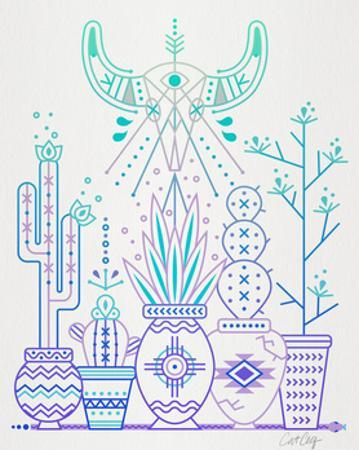 Lavender Santa Fe Garden by Cat Coquillette