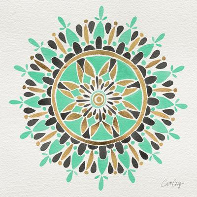 Mandala in Mint and Gold