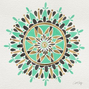 Mandala in Mint and Gold by Cat Coquillette
