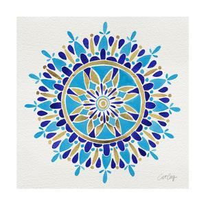 Mandala in Navy and Gold– Cat Coquillette by Cat Coquillette