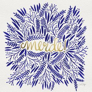 Merde – Navy and Gold by Cat Coquillette