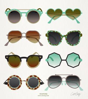 Mint Tan Sunglasses by Cat Coquillette