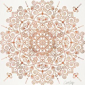 Moroccan Mandala Rose Gold by Cat Coquillette