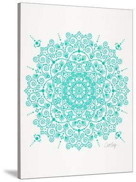 Moroccan Mandala Turquoise by Cat Coquillette