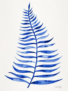 Navy Palm Leaf by Cat Coquillette