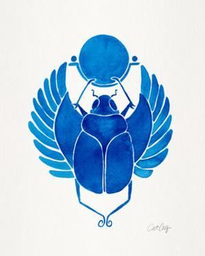 Navy Scarab by Cat Coquillette