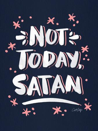 Not Today Satan Navy Blush by Cat Coquillette
