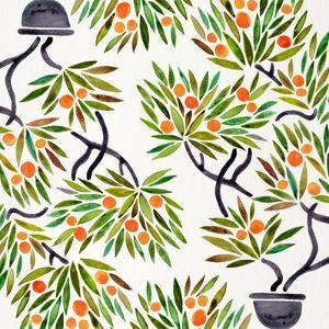 Orange Bonsai Orange Pattern by Cat Coquillette