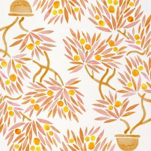 Peach Bonsai Orange Pattern by Cat Coquillette