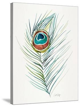 Peacock Feather Original by Cat Coquillette