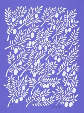 Periwinkle Olive Branches by Cat Coquillette