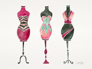 Pink 3 Dresses by Cat Coquillette