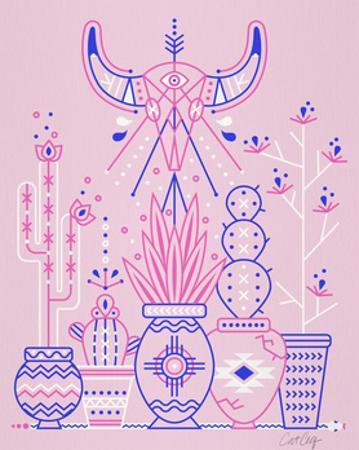 Pink Santa Fe Garden by Cat Coquillette