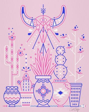 Pink Santa Fe Garden by Cat Coquillette