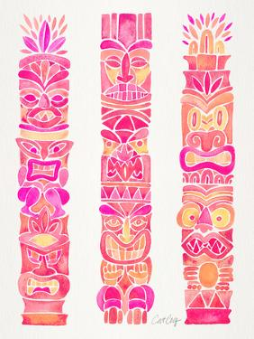 Pink Tiki Totems by Cat Coquillette