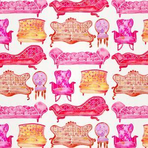 Pink Victorian Lounge Pattern by Cat Coquillette