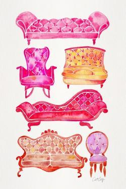 Pink Victorian Lounge by Cat Coquillette