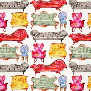 Rainbow Victorian Lounge Pattern by Cat Coquillette