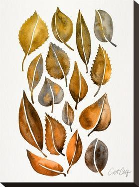 Rusy Fall Leaves by Cat Coquillette