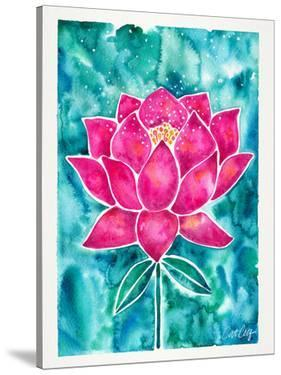 Sacred Lotus Blossom Magenta Teal by Cat Coquillette