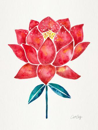 Sacred Lotus Blossom Red by Cat Coquillette