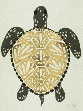 Sea Turtle in Black and Gold by Cat Coquillette