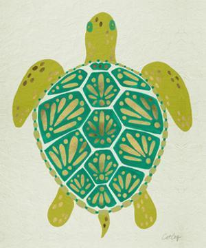 Sea Turtle in Lime by Cat Coquillette
