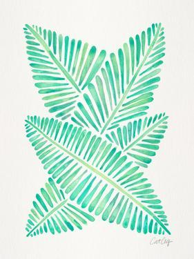 Seafoam Banana Leaves by Cat Coquillette
