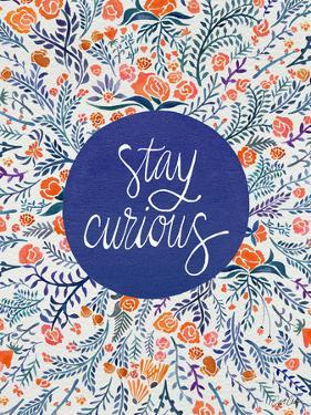 Stay Curious in Navy and Red by Cat Coquillette