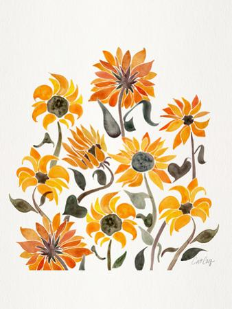 Sunflowers Yellow by Cat Coquillette